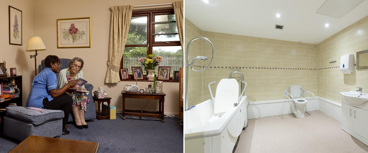 Link to a virtual tour of Sherwood House care home